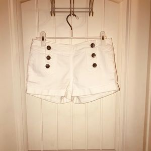 White Nautical Juicy Couture Jean Shorts